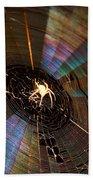 Nighttime Spider Web Bath Towel