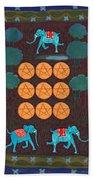 Nine Of Pentacles Hand Towel