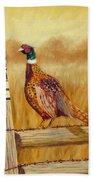 No Hunting   Pheasant Bath Towel