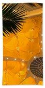 Sunshine Yellow Silk Decor With Stars Bath Towel
