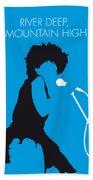 No019 My Tina Turner Minimal Music Poster Bath Towel by Chungkong Art