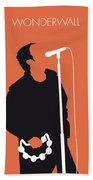 No023 My Oasis Minimal Music Poster Hand Towel by Chungkong Art