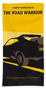 No051 My Mad Max 2 Road Warrior Minimal Movie Poster Hand Towel by Chungkong Art