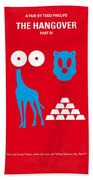 No145 My The Hangover Part 3 Minimal Movie Poster Hand Towel by Chungkong Art
