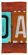 Noah License Plate Name Sign Fun Kid Room Decor. Bath Towel