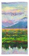 Nomad - Alaska Landscape With Joe Redington's Boat In Knik Alaska Hand Towel