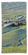 North American B-25g Mitchell Bomber Bath Towel
