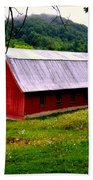 North Carolina Red Barn Bath Towel