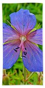 Northern Geranium In Jasper National Park-alberta  Bath Towel