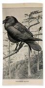Northern Raven Bath Towel