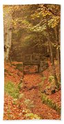 Northumberland, England  A Creek Bath Towel