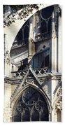 Notre Dame Cathedral Architectural Details Bath Towel