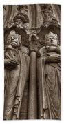 Notre Dame Facade Detail Bath Towel