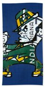 Notre Dame Fighting Irish Leprechaun Vintage Indiana License Plate Art  Bath Towel by Design Turnpike