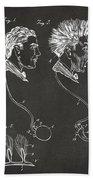 Novelty Wig Patent Artwork Gray Hand Towel