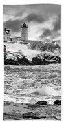 Nubble Lighthouse After The Storm Bath Towel