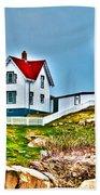Nubble Lighthouse Cape Neddick Maine 2 Hand Towel