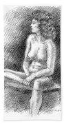 Nude Female Sketches 2 Bath Towel