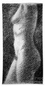 Nude Female Torso Drawings 6 Bath Towel