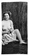 Nude In Field, C1850 Bath Towel