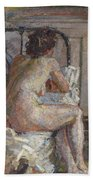 Nude On A Bed, C.1914 Hand Towel