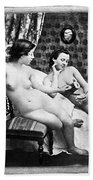 Nudes Having Tea, C1850 Bath Towel