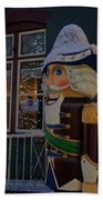 Nutcracker Statue In Downtown Grants Pass Bath Towel
