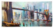 Ny City Brooklyn Bridge II Bath Towel