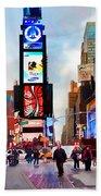 Ny Times Square Impressions IIi Bath Towel