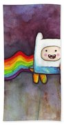 Nyan Time Hand Towel by Olga Shvartsur