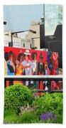 Nyc-high Line Billboard Art Bath Towel