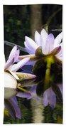 Nymphaea Colorata. Water Lilies Bath Towel