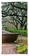 Oak Alley Landscape In Vacherie Louisiana Bath Towel