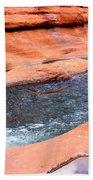 Oak Creek At Slide Rock Bath Towel
