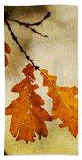 Oak Leaves At Autumn Bath Towel