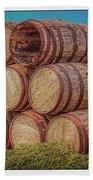 Oak Wine Barrels Bath Towel