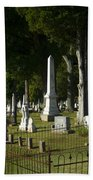 Obelisk And Headstones Bath Towel