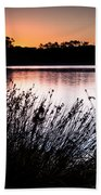 Obidos Lagoon Sunrise Bath Towel