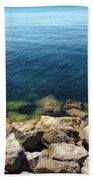 Ocean And Rocks Bath Towel
