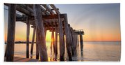 Ocean Grove Pier Sunrise Bath Towel