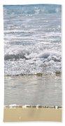 Ocean Shore With Sparkling Waves Bath Towel
