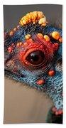 Ocellated Turkey Portrait Bath Towel