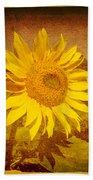 Of Sunflowers Past Hand Towel