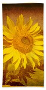 Of Sunflowers Past Bath Towel