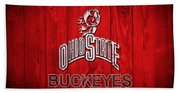 Ohio State Buckeyes Barn Door Vignette Bath Towel
