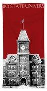 Ohio State University - Dark Red Bath Towel