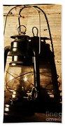 Oil Lantern Bath Towel