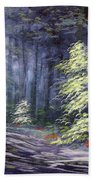 Oil Painting - Forest Light Bath Towel