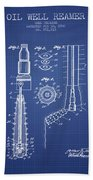 Oil Well Reamer Patent From 1924 - Blueprint Bath Towel