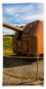 Old Artillery Gun - Ft. Stevens - Oregon Bath Towel